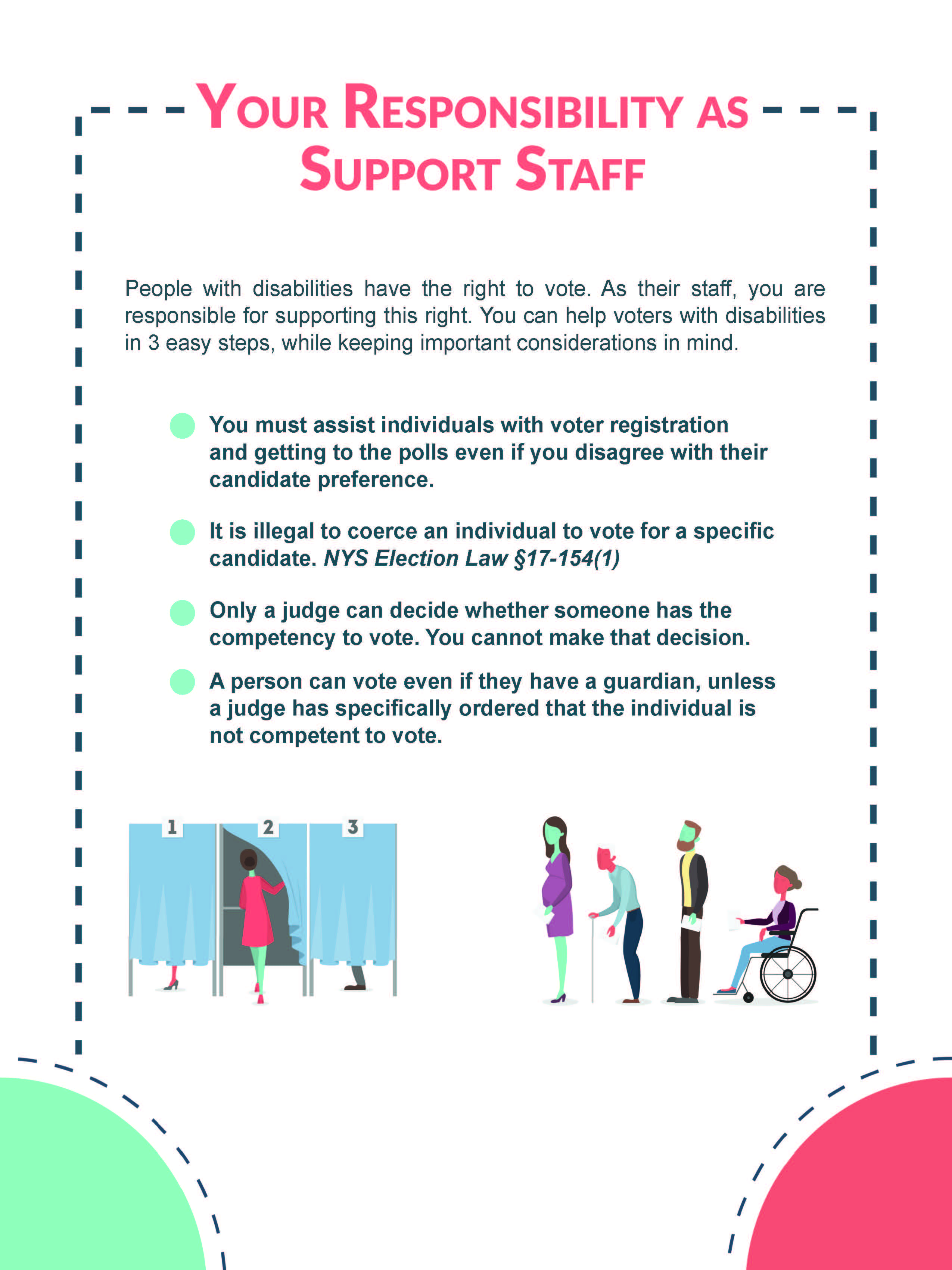 Your responsibility as support staff